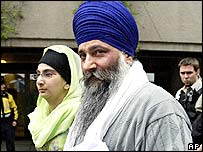 Ajaib Singh Bagri leaves court with his daughter