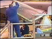 DARA engineers at a cockpit