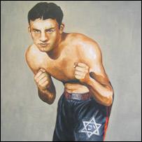 Jack 'Kid' Berg, as painted by Charles Miller