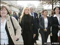 Paula McCartney, Bridgeen O'Hagans, Ted Kennedy, Claire McCartney and Catherine McCartney