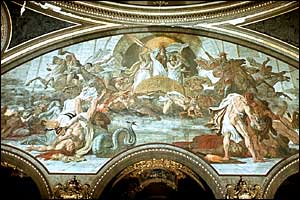 Fresco by Friedrich Geselchap, entitled The War, Berlin