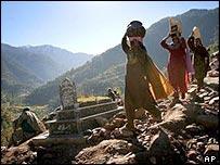Quake victims in Balakot