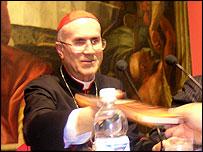 Cardinal Tarcisio Bertone, Archbishop of Genoa