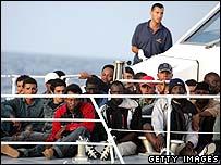 Italian coastguard off Lampedusa