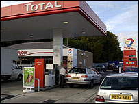 Total petrol station in the UK