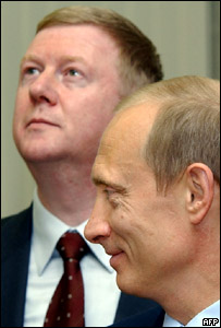 Анатолий Чубайс и Владимир Путин