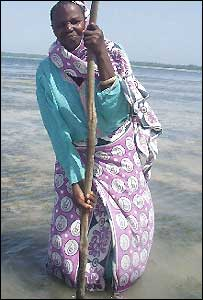 Fatima Hamidi, one of Pemba's new seaweed farmers in Tanzania