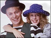 Ex-Neighbours stars Kylie Minogue and Jason Donovan