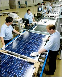 Solar panel production (Sharp)