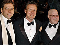 Anthony Head (centre) with Little Britain co-stars David Walliams (left) and Matt Lucas (right)