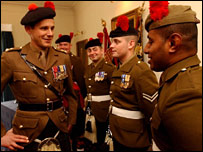 Lt Col James Cowan with soldiers of the Black Watch