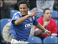 Portsmouth striker Dario Silva