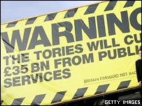 """Labour's election poster on Tory """"cuts"""""""
