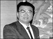 Yon Hyong-muk as North Korean prime minister in a 1990 file photo