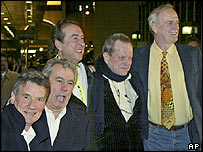(l-r) Michael Palin, Terry Jones, Eric Idle, Terry Gilliam and John Cleese