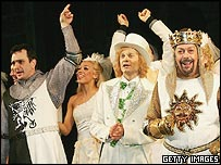 Hank Azaria (l), David Hyde Pierce and Tim Curry (r) in Spamalot