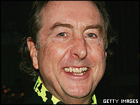 Eric Idle at the opening of Spamalot on Broadway