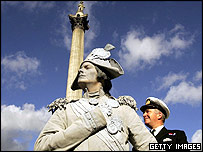 Nelson's statue and First Sea Lord and Chief of the Naval Staff, Admiral Sir Alan West