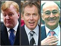 Charles Kennedy, Tony Blair, Michael Howard