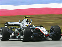 McLaren test driver Pedro de la Rosa in action at the Malaysian Grand Prix