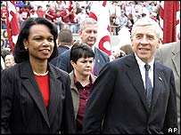 Condoleezza Rice and Jack Straw in Alabama
