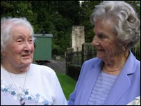 Phyllis Condon and Mair Edwards