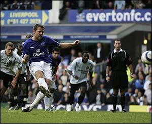 James Beattie slots home a 37th minute penalty
