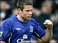 Everton goalscorer James Beattie