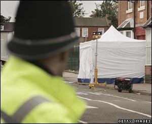 Tent at death scene