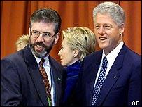 Gerry Adams and Bill Clinton