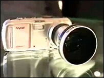 Samsung's seven megapixel camera mobile phone with wide-angle lens
