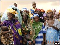 Women from a famine-hit region of Niger