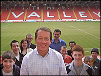 Charlton manager Alan Curbishly welcomes the Tackling Skills participants to The Valley