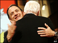 Tom Hanks and Steve Martin at the John F Kennedy Center for Performing Arts' annual award ceremony