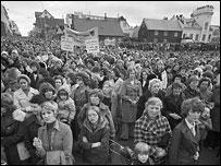 На митинге в Рейкьявике