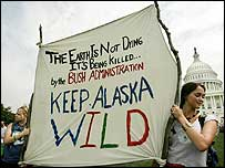 Washington protest to keep the Arctic National Wildlife Refuge off-limits to oil drilling