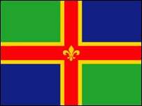 new Lincolnshire flag