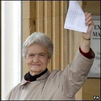 Council tax protester Sylvia Hardy - PA
