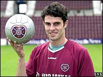 Hearts midfielder Samuel Camazzola