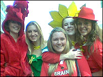 Welsh girls in costume