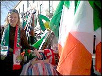 Flag seller Charlotte