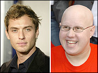 Jude Law and Matt Lucas