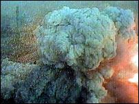 Blast plume in Baghdad