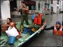 Flooding in Havana