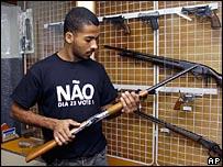 Gun shop in Rio de Janeiro