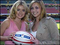 Catherine Jenkins and Charlotte Church at the Millennium Stadium