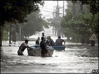 Flooding in Havana