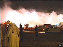 Scene of bombing near Doha