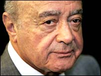 Fulham chairman and owner Mohamed Al Fayed