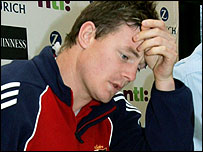 Brian O'Driscoll was left distraught after the incident in the first Test